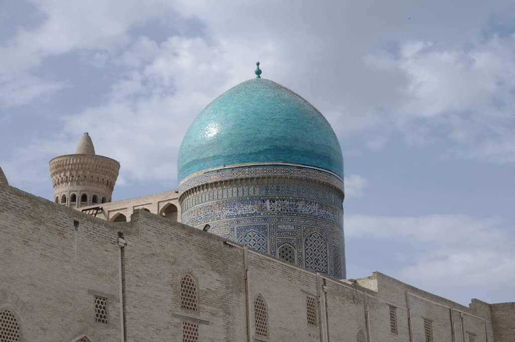 Dome en faience bleue Ouzbekistan
