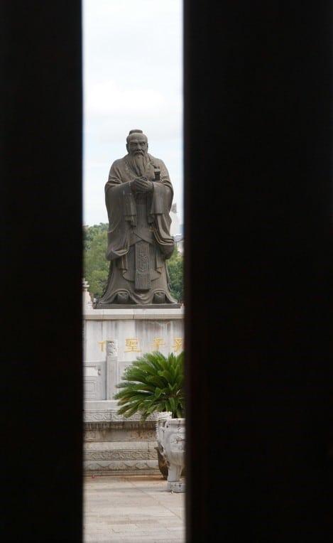statue de Confusius à Jiangshui
