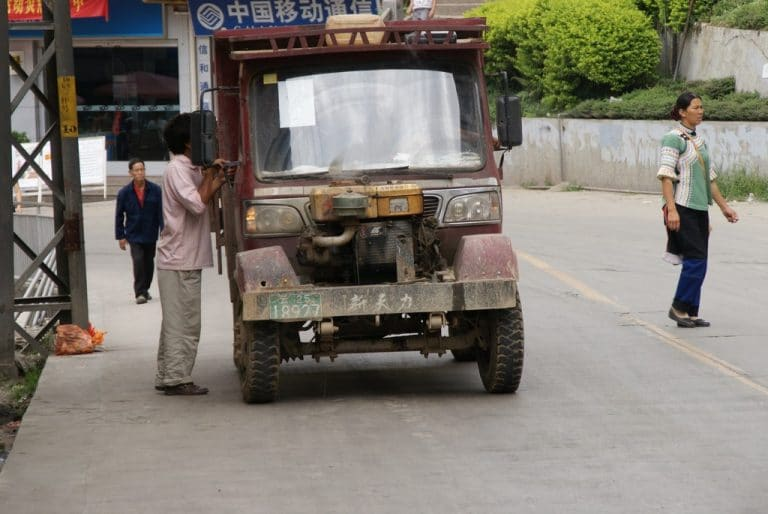 camion chinois hors d'age