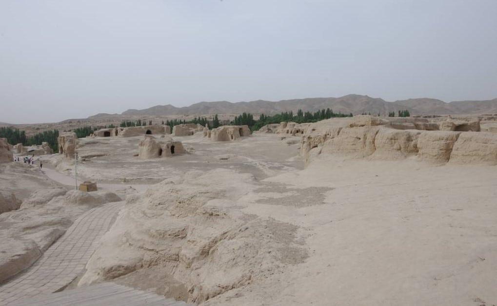 ruines de Jiahoé. le Xinjiang chine