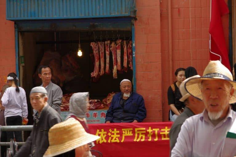 etal de boucherie a Xining.Chine
