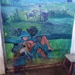 street art par une serveuse de Pyin Oo Lwin