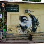 street art Dali face