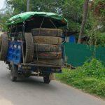 Voyage pneus de recyclage