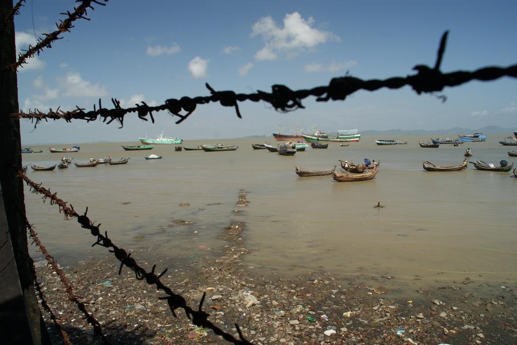 Port de Sittwe à marée basse