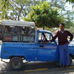 Taxi bleu de Mandalay