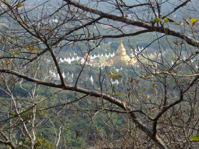 Vue depuis la colline de mandalay