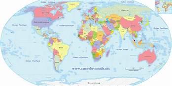 carte du monde pour un blog d'un nomade