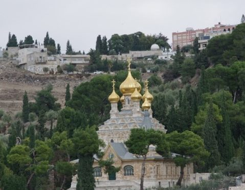 Jerusalem et Petra eglise stainte Marie Madeleine