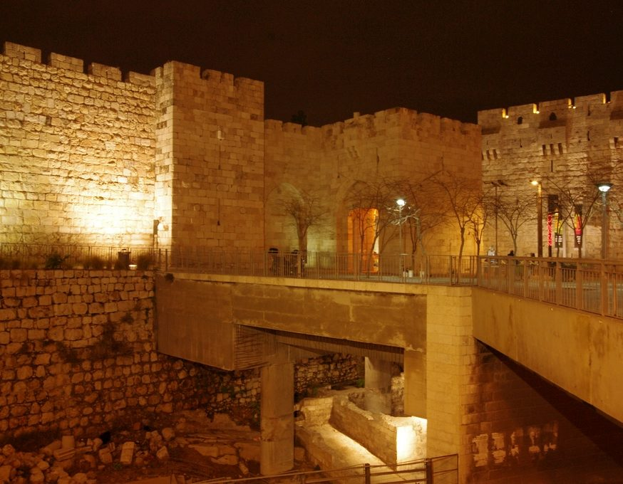 Remparts de Jerusalem by night