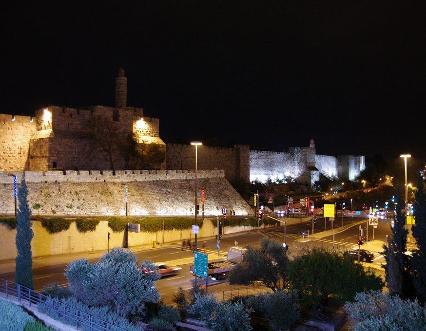 Remparts de Jerusalem by night