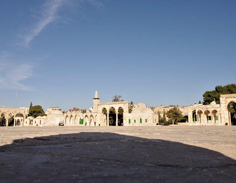 """l""""esplanade des mosquees Jerusalem et Petra"""