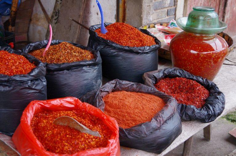 piments sechés en Chine Service