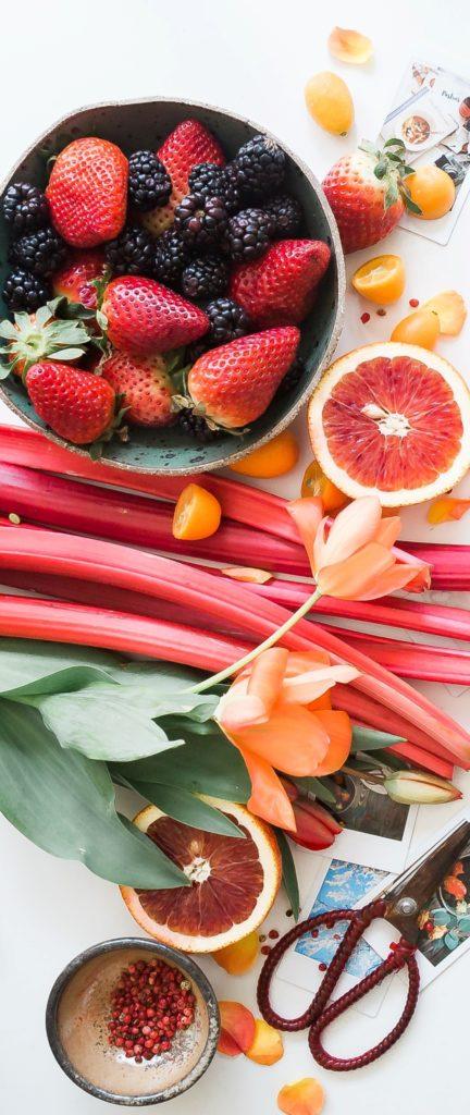 Assortiments de fruits dans index des recettes