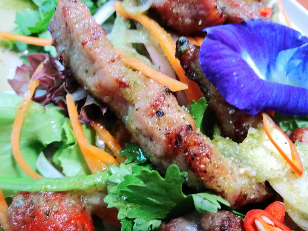 Salade thaie.Monde de la gastronomie