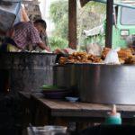 Vendeur de gateaux birmans