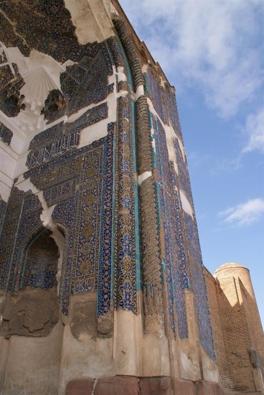 la porte de la mosquee bleue de Tabriz