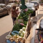 commercante de rue a Vientiane