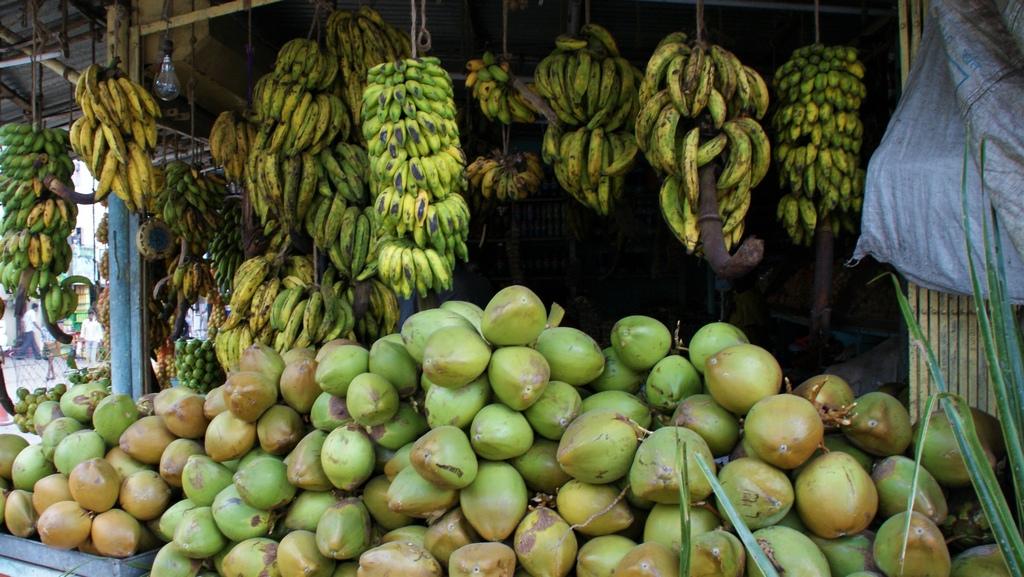 banane plantain et noix de coco