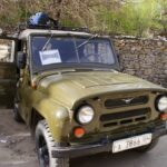 4x4 chinois taxi collectif au Tadjikistan