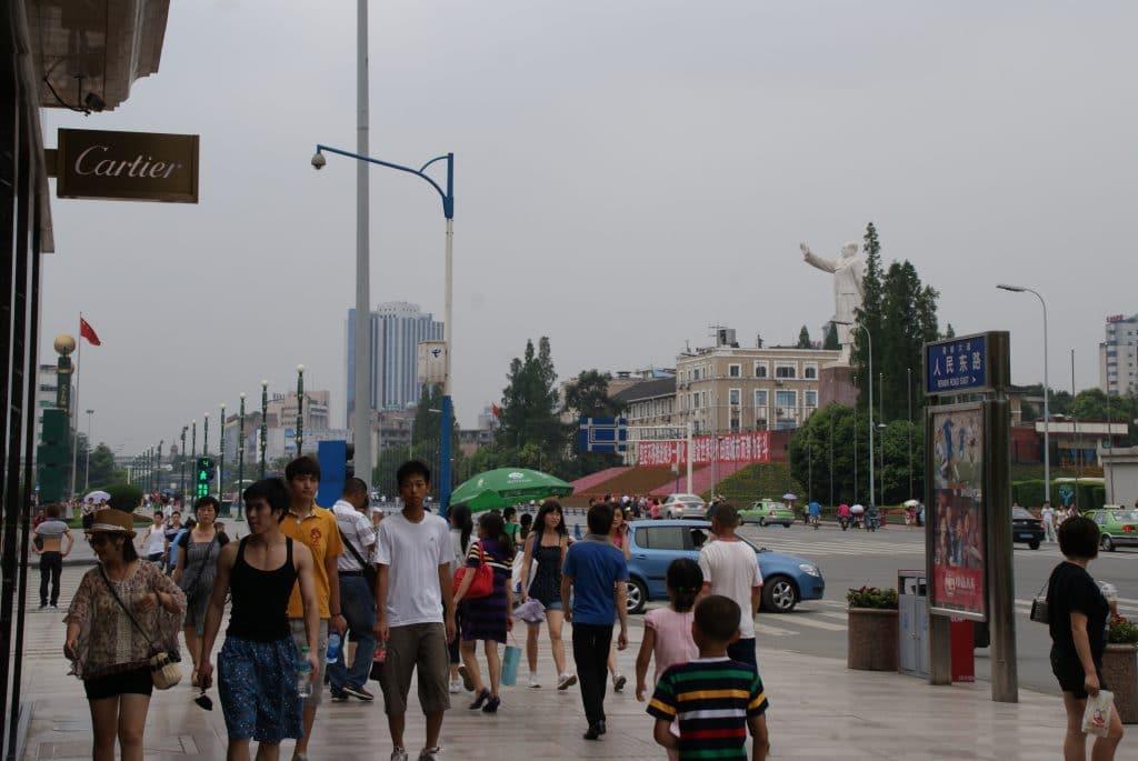 Square à Chengdu Chine